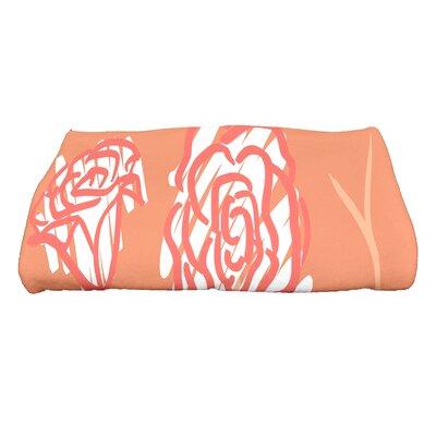 Spring Floral 2 Floral Print Bath Towel Color: Coral
