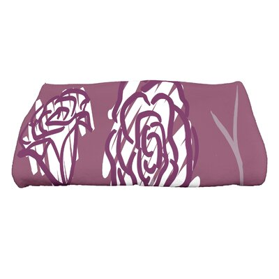 Spring Floral 2 Floral Print Bath Towel Color: Purple
