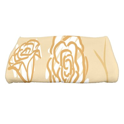 Spring Floral 2 Floral Print Bath Towel Color: Gold