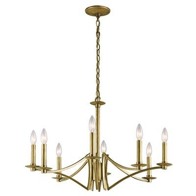 Mandurah 8-Light Candle-Style Chandelier Finish: Natural Brass