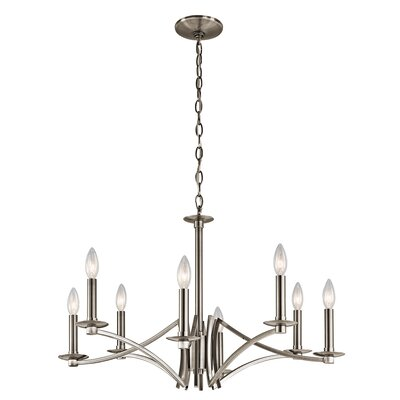 Mandurah 8-Light Candle-Style Chandelier Finish: Classic Pewter
