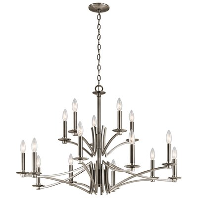 Mandurah 15-Light Candle-Style Chandelier Finish: Classic Pewter