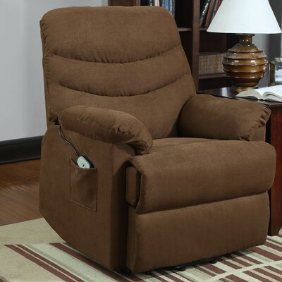 Twining Power Lift Assist Recliner Upholstery: Brown
