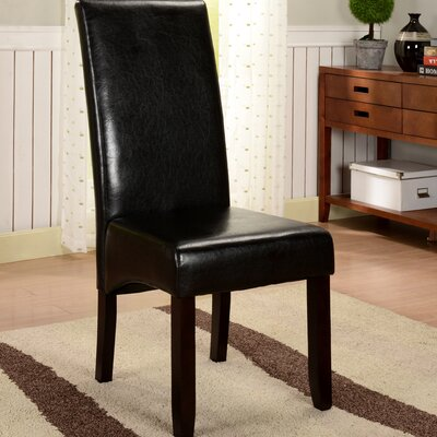 Ulrich Parson Chairs Upholstery: Black