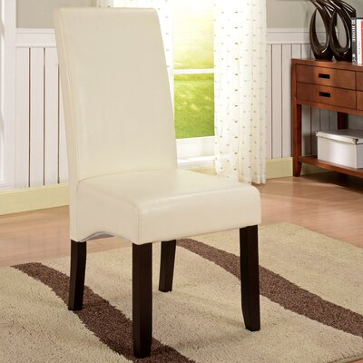 Shirehampton Parson Chairs Upholstery: Cream White