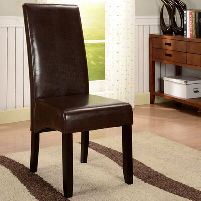 Ulrich Parson Chairs Upholstery: Brown