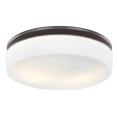 Riverton 2-Light Flush Mount Finish: Oil Rubbed Bronze