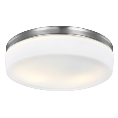 Evendale 2-Light Flush Mount Finish: Satin Nickel