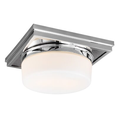 Monkton Combe 2-Light Flush Mount Finish: Chrome
