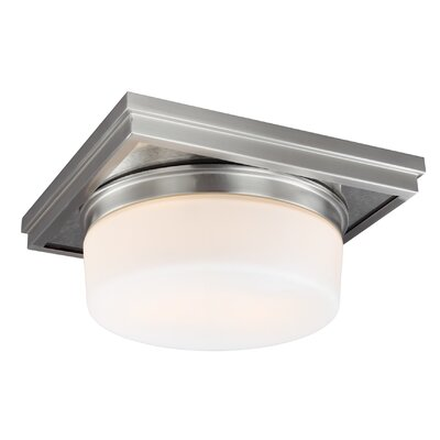 Monkton Combe 2-Light Flush Mount Finish: Satin Nickel