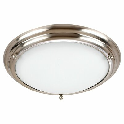 Greenbank 1-Light Ceiling Flush Mount Size: 4.25 H x 15.25 W x 15.25 D