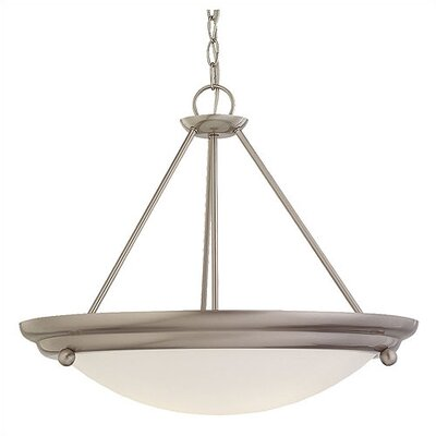 Greenbank 3-Light Convertible Inverted Pendant Finish: Brushed Stainless
