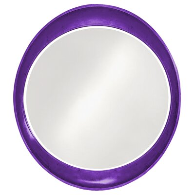 Oval Wall Mirror Finish: Royal Purple
