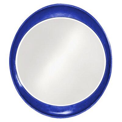 Oval Wall Mirror Finish: Royal Blue