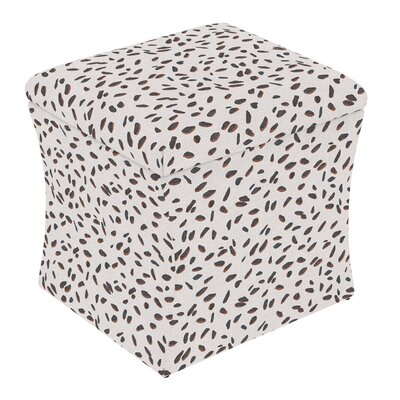 Fienley Storage Ottoman Upholstery: Neo Leo Cream Tan Black