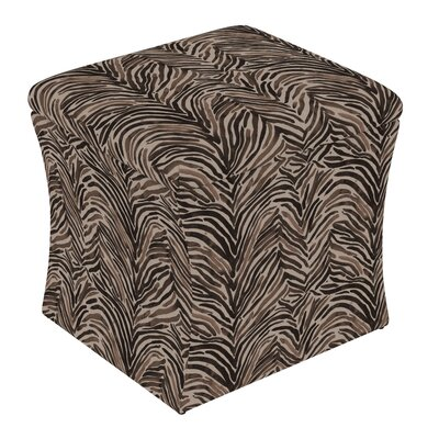 Fienley Storage Ottoman Upholstery: Washed Zebra Chocolate