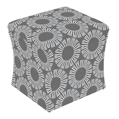 Fienley Storage Ottoman Upholstery: Medallion Charcoal