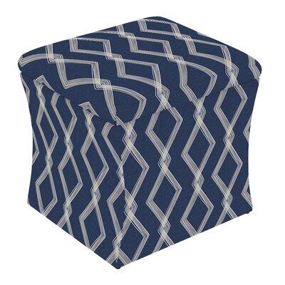 Fienley Storage Ottoman Upholstery: Crossweave Blue