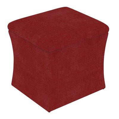 Fienley Storage Ottoman Upholstery: Linen Antique Red