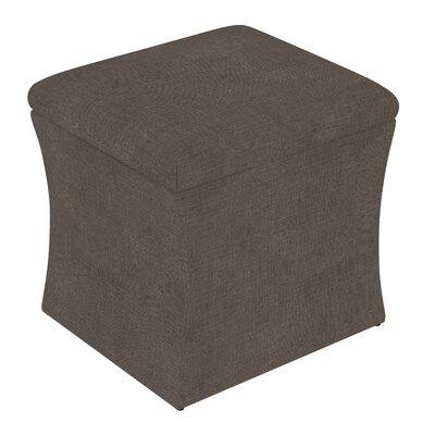 Fienley Storage Ottoman Upholstery: Linen Cindersmoke
