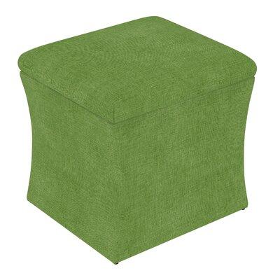 Fienley Storage Ottoman Upholstery: Linen Kelly Green