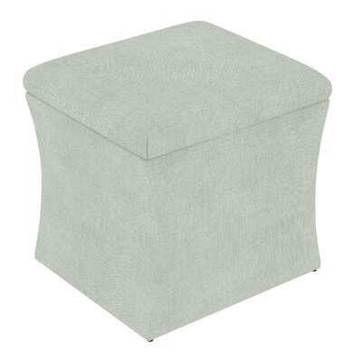 Fienley Storage Ottoman Upholstery: Linen Swedish Blue