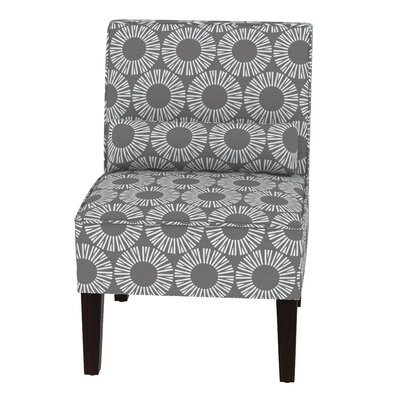 Thurston Slipper Chair Upholstery: Medallion Charcoal OGA