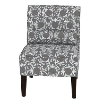 Thurston Slipper Chair Upholstery: Medallion Charcoal OGA