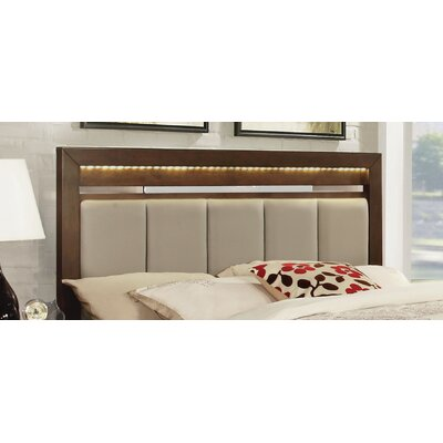 Miranda Choco Upholstered Panel Headboard Size: King