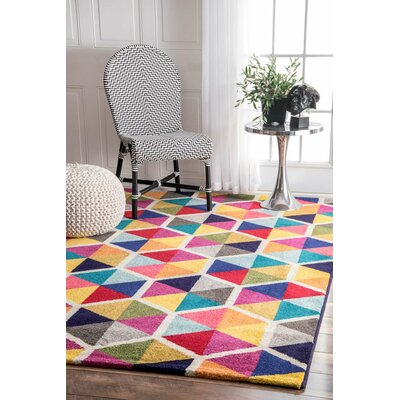 Maureen Pink/Blue Area Rug Rug Size: Rectangle 41 x 6