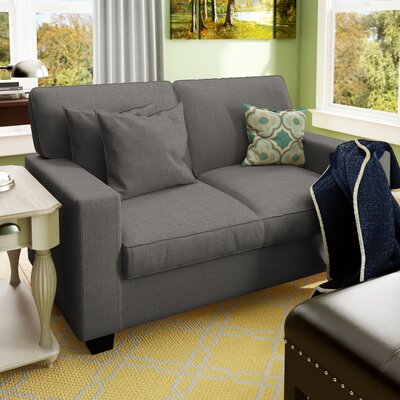 Lonnie 61 Track Arm Loveseat Upholstery: Gray