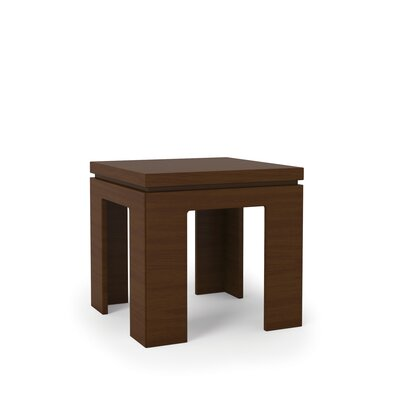 Belwood Modern End Table Color: Nut Brown
