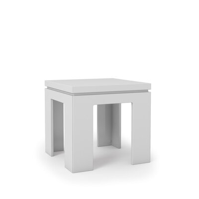 Belwood Modern End Table Color: White Gloss