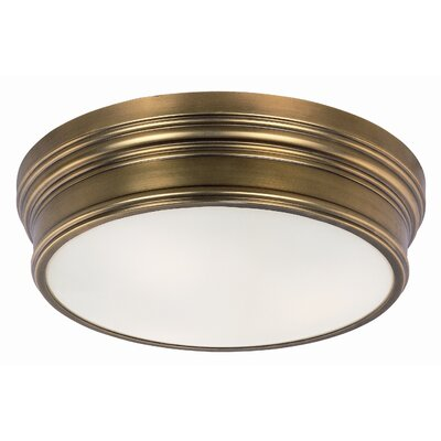Chesterfield 3-Light Flush Mount Finish: Natural Aged Brass