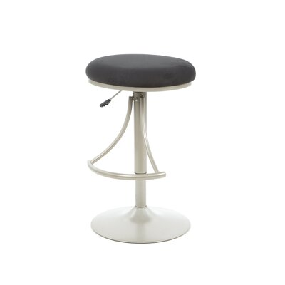 Elon Adjustable Height Swivel Bar Stool Upholstery: Black
