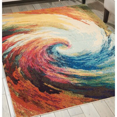 Abertamy Wave Area Rug Rug Size: Rectangle 3'11