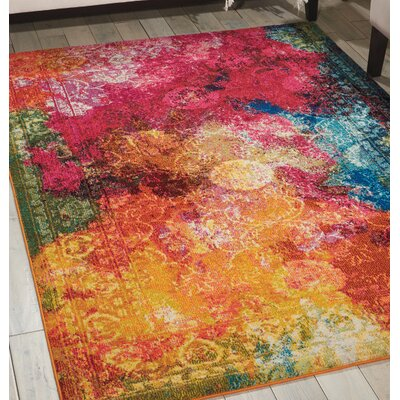Abertamy Seaglass Area Rug Rug Size: Rectangle 7'10