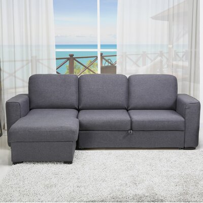 Shenandoah Reversible Sleeper Sectional Upholstery: Gray