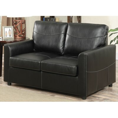 Geib Sleeper Sofa Upholstery: Black