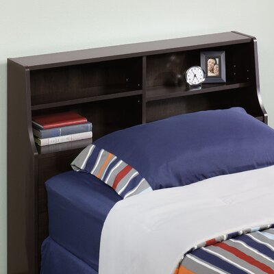 Everett Twin Bookcase Headboard Color: Cinnamon Cherry