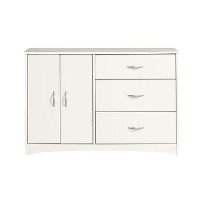 Francine 3 Drawer Combo Dresser Finish: Soft White