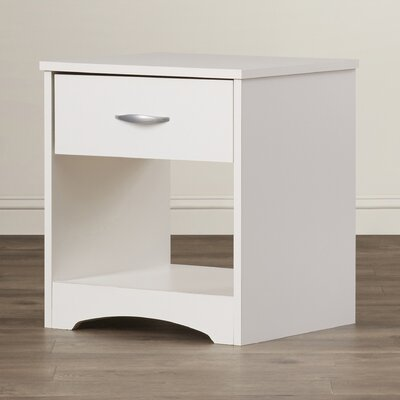 Francine 1 Drawer Nightstand Finish: Soft White