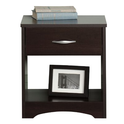 Everett 1 Drawer Nightstand Color: Cinnamon Cherry