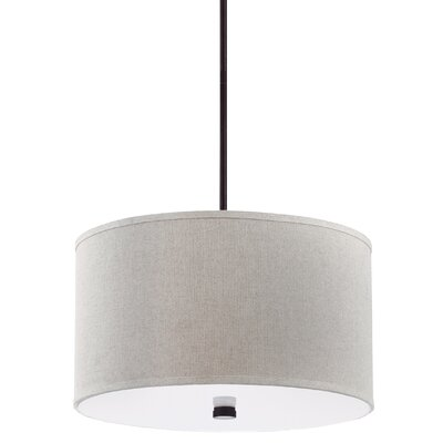 Alessia Dayna 3-Light Drum Pendant Finish: Burnt Sienna