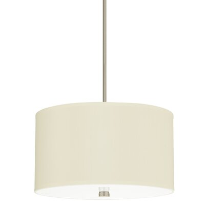 Alessia Dayna 3-Light Drum Pendant Finish: Brushed Nickel