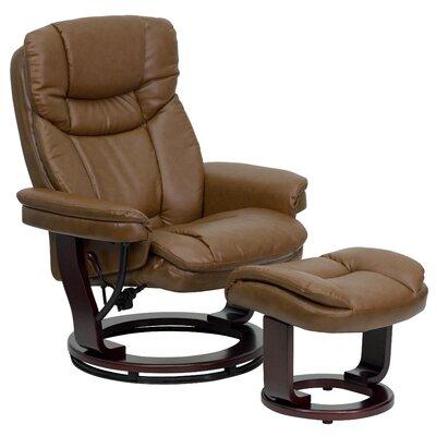 Winnols Leathersoft Recliner and Ottoman III Upholstery: Palimino