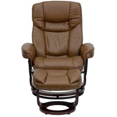 Winnols Manual Swivel Recliner with Ottoman Upholstery: Palimino