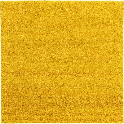 Maxine Dark Yellow Area Rug Rug Size: 6 x 6