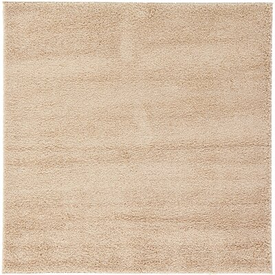 Maxine Warm Taupe Area Rug Rug Size: 6 x 6