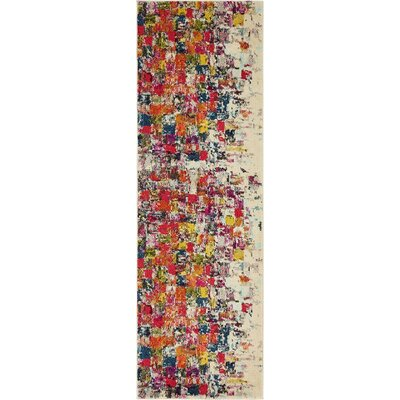 Oldsmar Red/Yellow Area Rug Rug Size: Runner 22 x 67